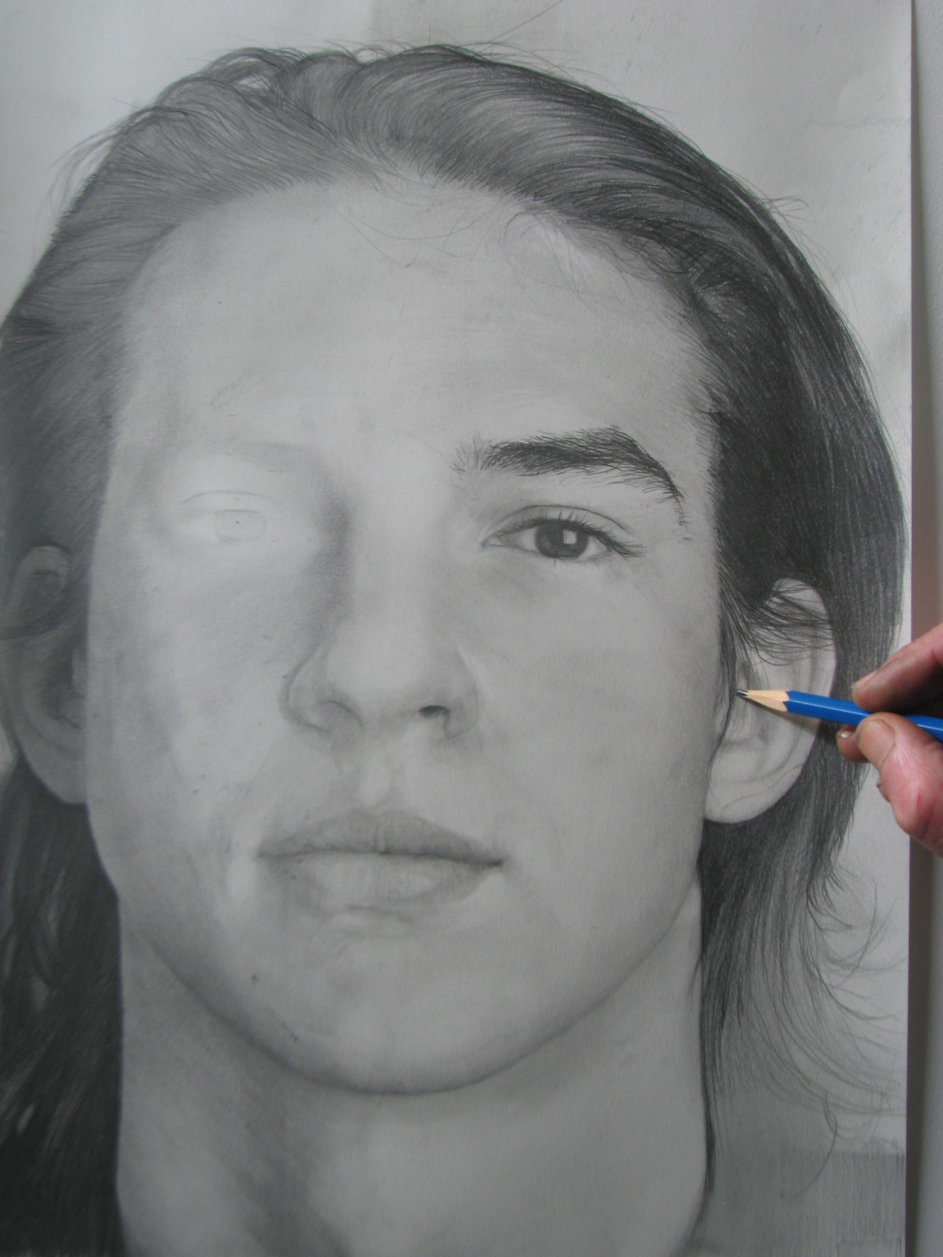 Portrettekenen volwassenen. basis gevorderden vervolmaking